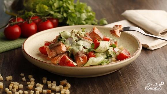 Рецепт Овощной салат с рыбой