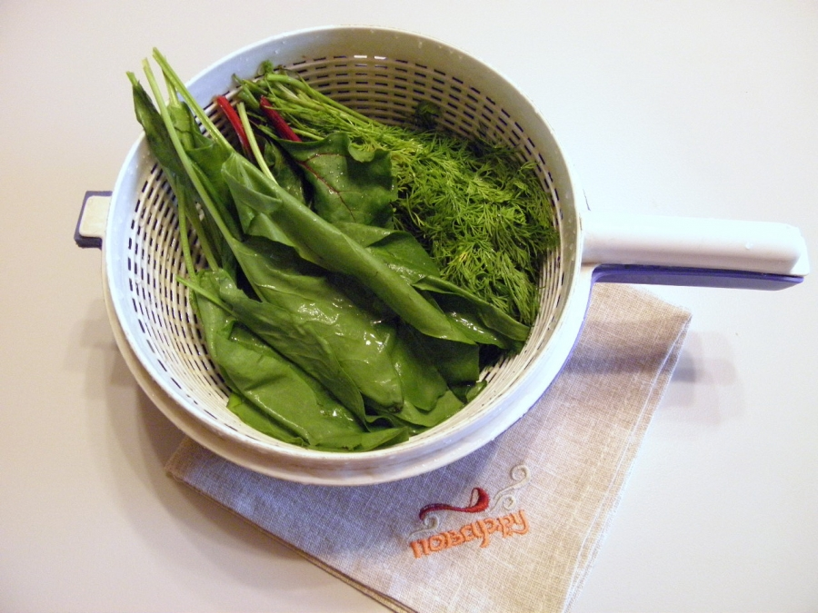 Салат из щавеля - фото шаг 2