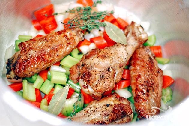 Бульон из индейки с овощами - фото шаг 3