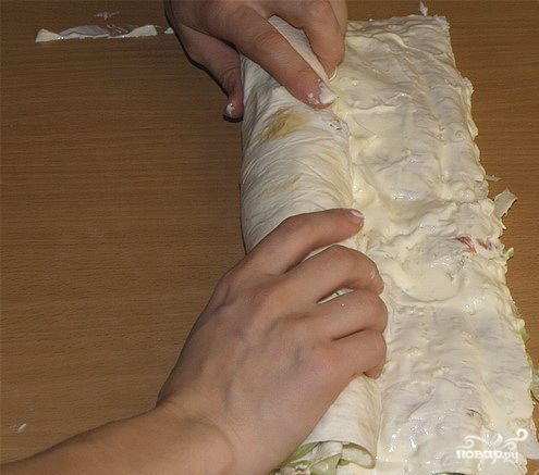 салат с лавашом рецепт с рыбой