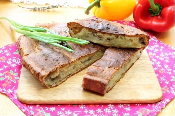 Быстрый пирог с картошкой
