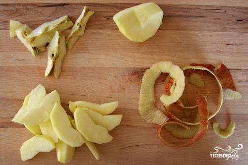 Овсяная каша с жареными яблоками - фото шаг 1