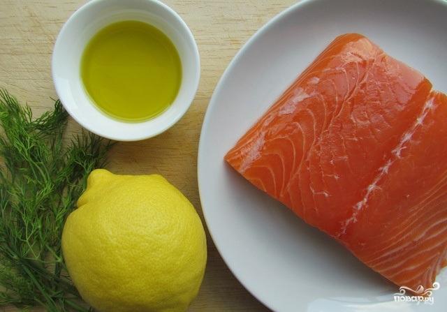 Филе лосося в духовке - фото шаг 1