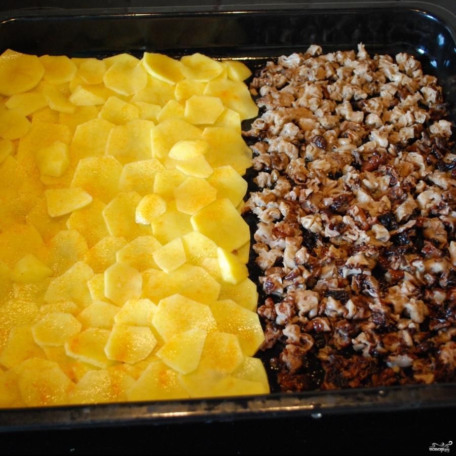 Картошка со сморчками в духовке - фото шаг 4