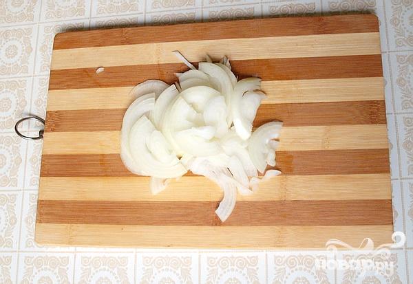Печень, тушеная в белом вине с печеным перцем - фото шаг 2