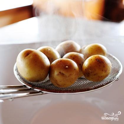 Картофельный салат с лимоном и базиликом - фото шаг 2
