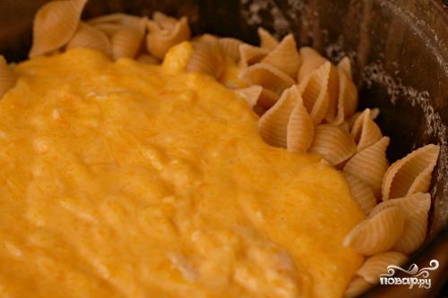 Паста с сырно-тыквенным соусом - фото шаг 3