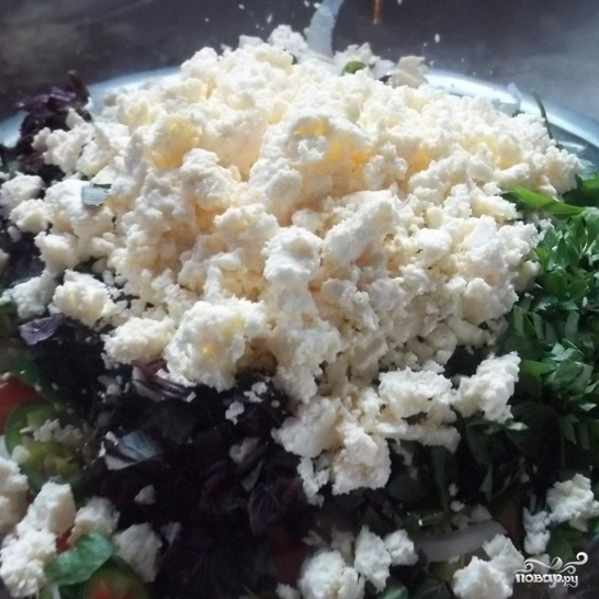 Грузинский салат с помидорами - фото шаг 4