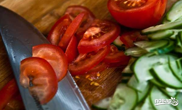 Салат из свежих овощей - фото шаг 2