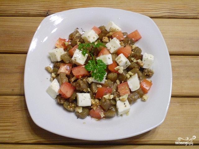 Салат из баклажанов с сыром - фото шаг 6