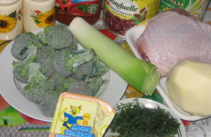 Рецепт Овощной суп с индейкой