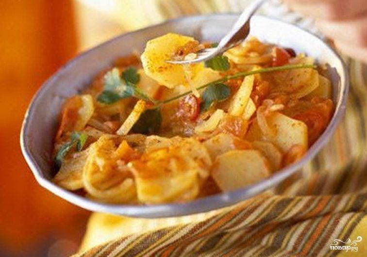 Рецепт Картофель тушеный с овощами
