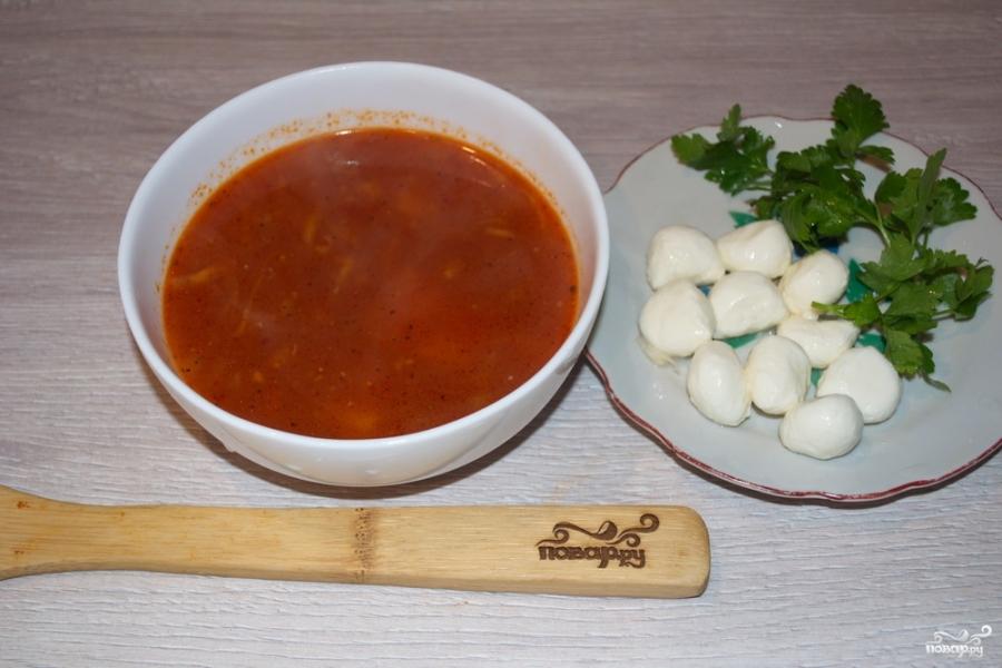 Томатный суп с моцареллой - фото шаг 7