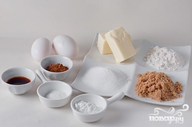 Печенье с корицей и кофейной глазурью - фото шаг 1