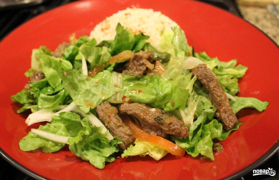 Салат с мясом вкусный