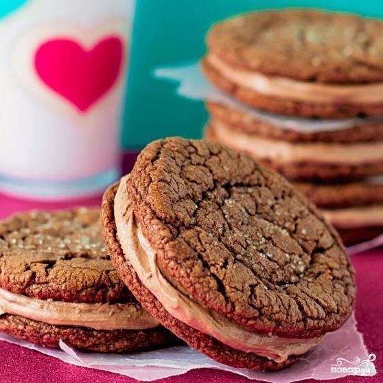 Печенье с Нутеллой и кремом - фото шаг 5