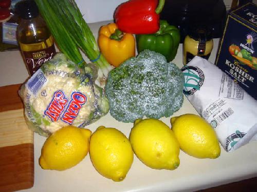 Овощной салат с креветками и лимоном - фото шаг 1