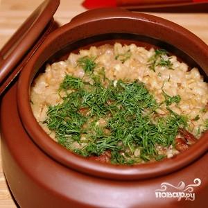 Рецепт Каша с мясом в горшочке
