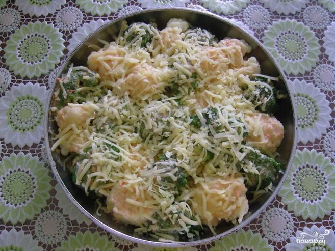 Цветная капуста с брокколи запеченная с сыром - фото шаг 3