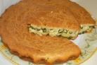 Пирог с яйцом и зеленью