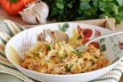 Спагетти в тыквенном соусе с беконом