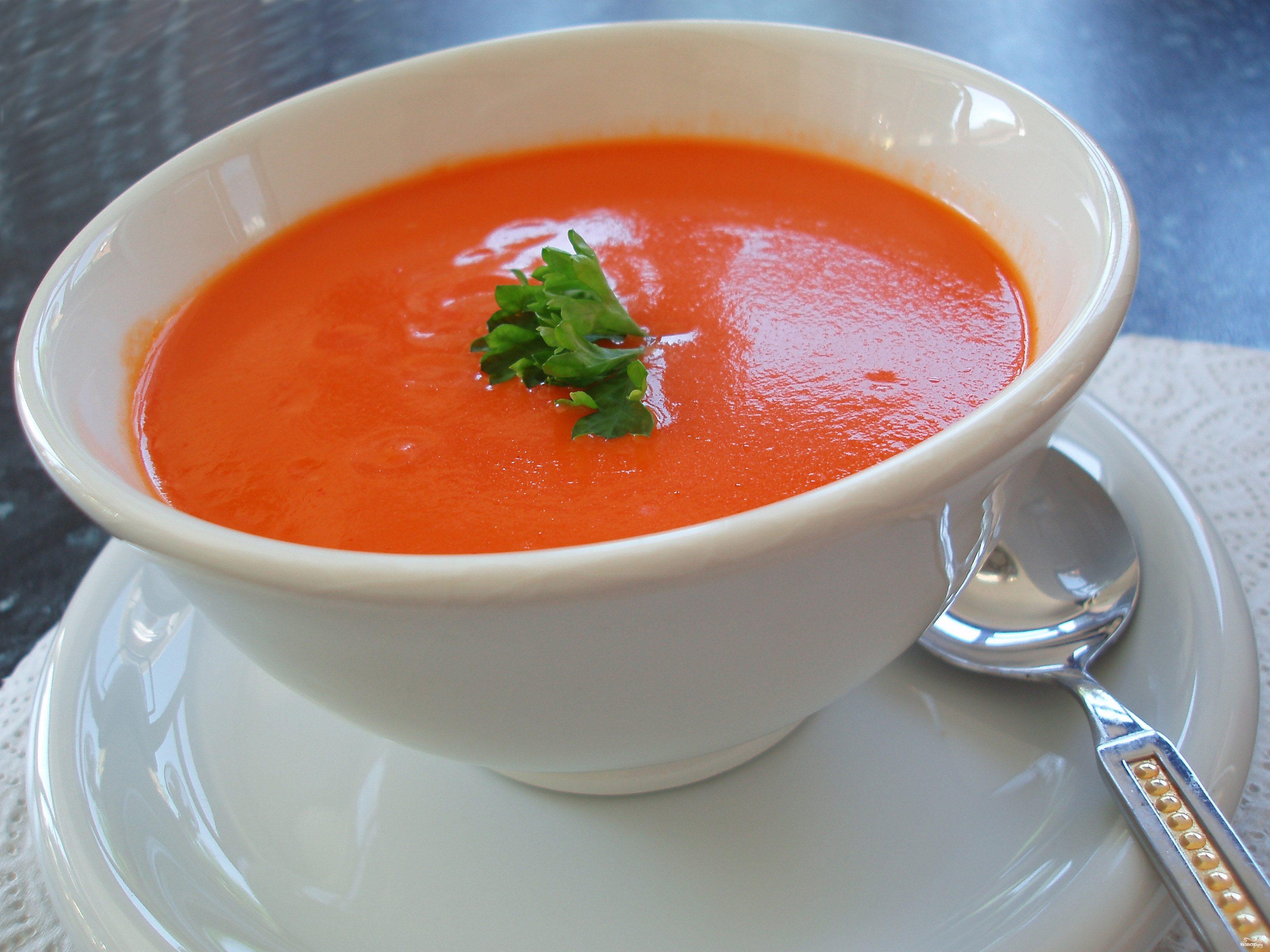 Рецепт Суп из томатов для похудения
