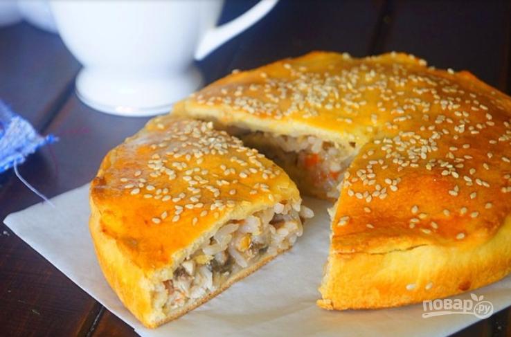пироги с рисом и яйцом в духовке пошаговый рецепт с фото на