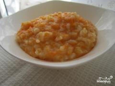 Рисовая каша с тыквой