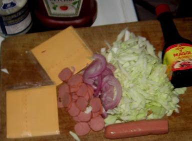 Рецепт Шаурма с колбасой и сыром