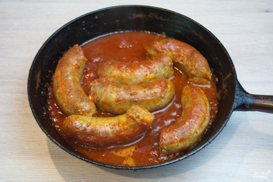 Колбаски под соусом - фото шаг 4