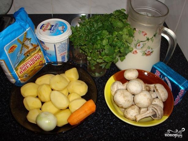 Рецепт Суп-пюре из шампиньонов