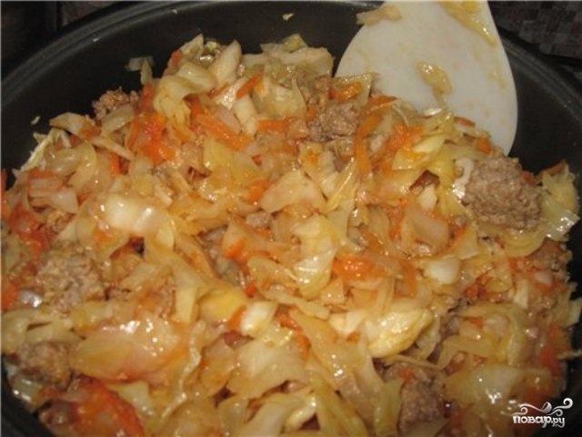 Капуста с мясом и сметаной в мультиварке рецепты