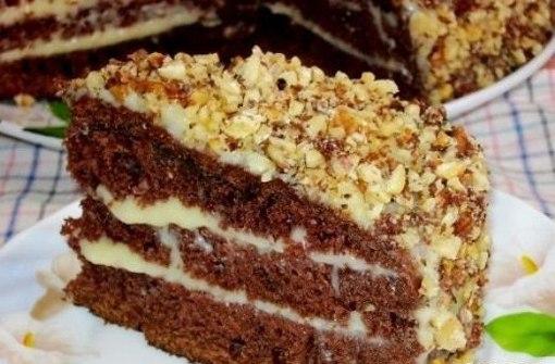 "Шоколадный торт на кефире ""Фантастика"" - фото шаг 5"