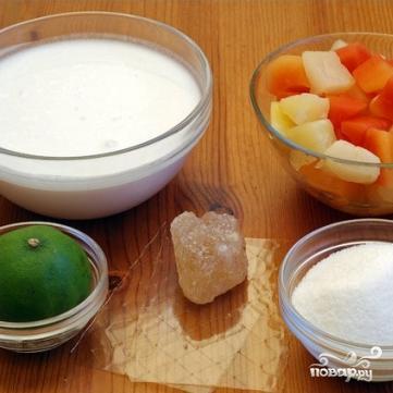 Сорбет из кокосового молока - фото шаг 1