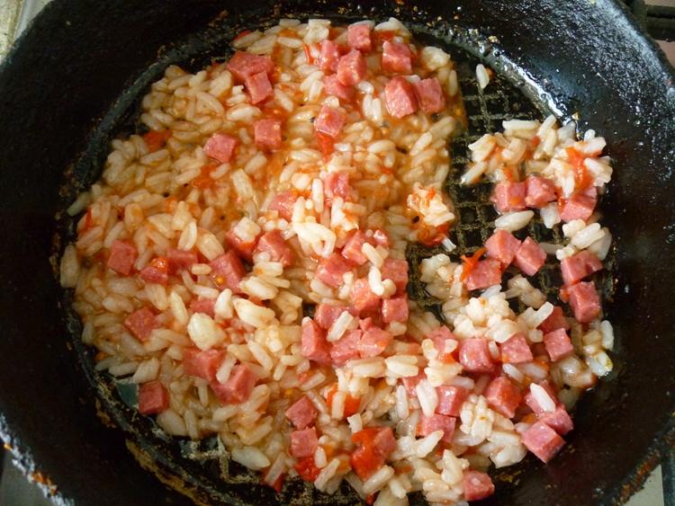 Омлет с рисом - фото шаг 2