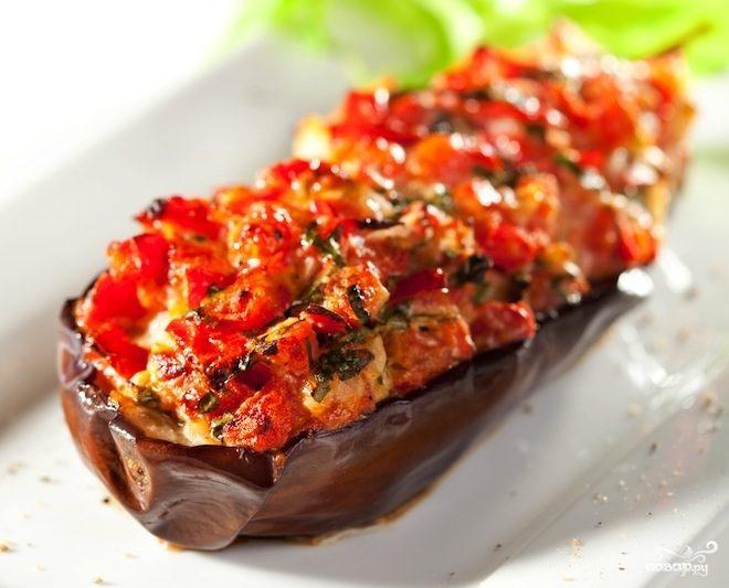 Рецепт Баклажаны фаршированные мясом