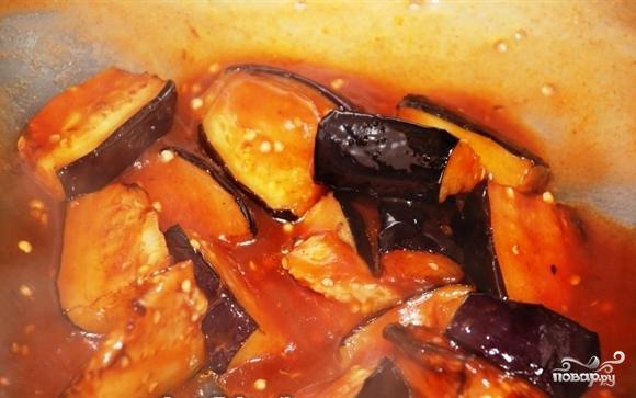 Баклажаны в кисло-сладком соусе - фото шаг 4