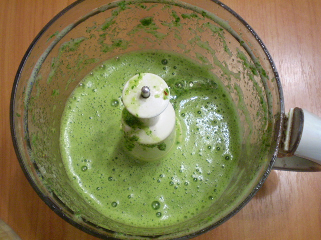 Зеленый коктейль с нектарином - фото шаг 4