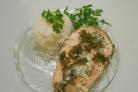 Семга под сливочным соусом в духовке