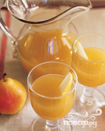 Рецепт Коктейль с яблочным сидром и грушей