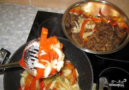 Мясо с овощами по-китайски на сковороде пошаговый рецепт