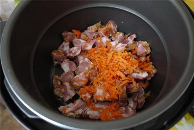 Гороховая каша с мясом в мультиварке - фото шаг 2