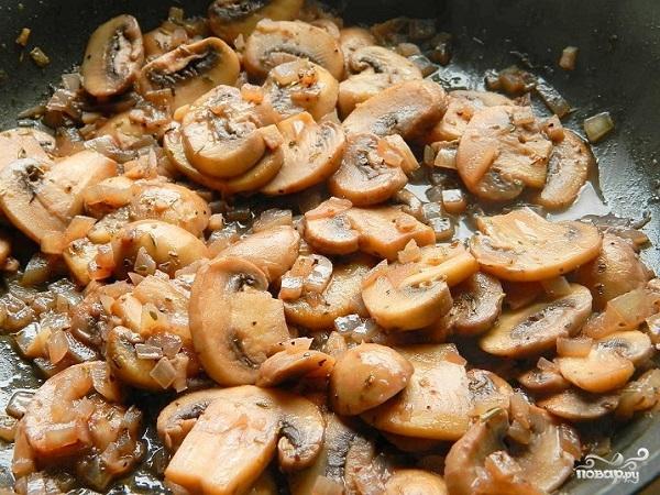 Семга с грибами - фото шаг 4