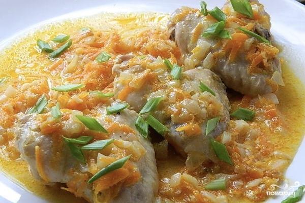 Куриные крылышки в сметанно-чесночном соусе - фото шаг 7