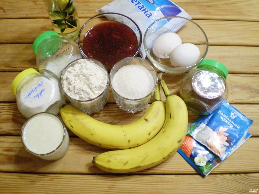 """Рецепт Банановый торт """"Обезьянка"""""""