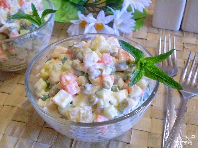 """Салат """"Столичный"""" классический рецепт"""