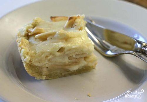 Яблочный пирог со сметанной заливкой