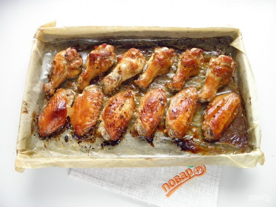 Крылышки к пиву в духовке рецепт пошагово 67