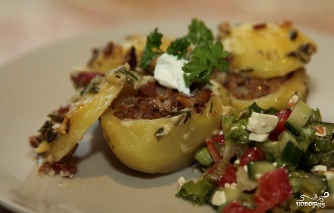 Рецепт Фаршированный картофель грибами