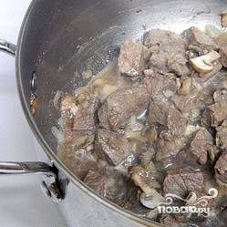 Рецепт Цветная капуста тушеная с мясом